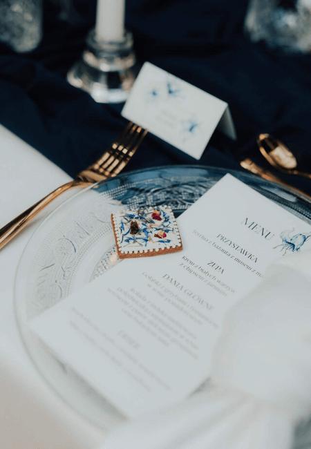menu ślubne classic blue Design Your Wedding