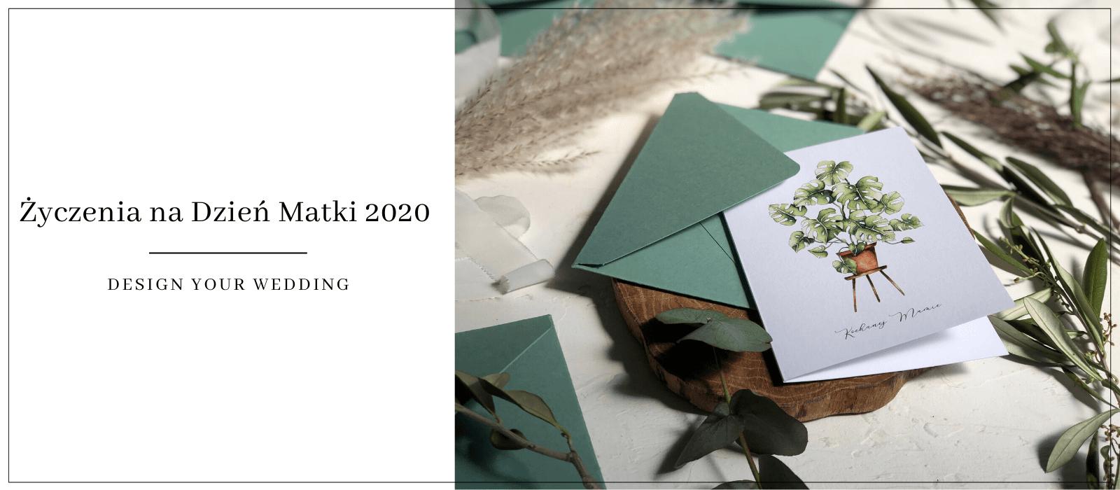 Kartka z życzeniami Kochanej Mamie Monstera Design Your Wedding