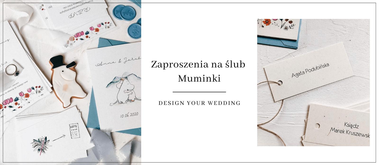 Muminki zaproszenia ślubne Design Your Wedding