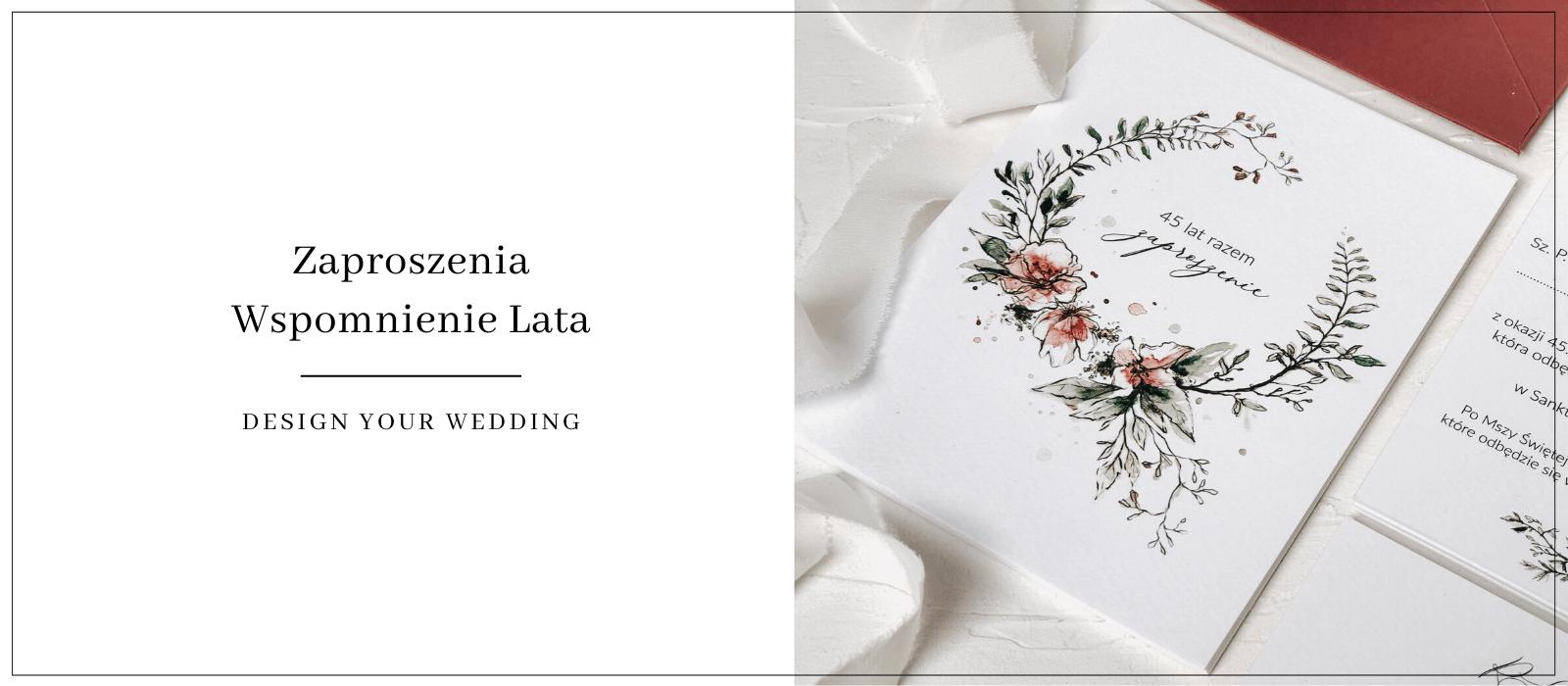 wspomnienie lata zaproszenia Design Your Wedding