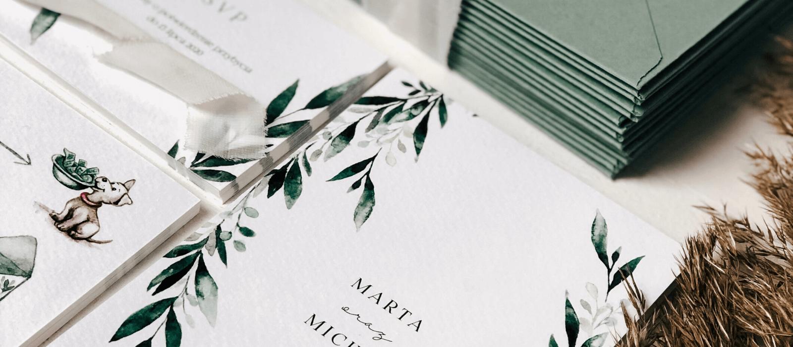 Zaproszenia na ślub, a pierwsze wrażenie Design Your Wedding