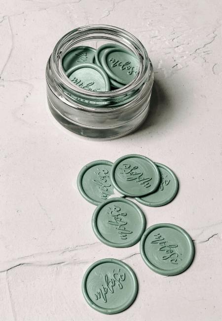 Obicia lakowe miłość kolor green tea matcha design your wedding
