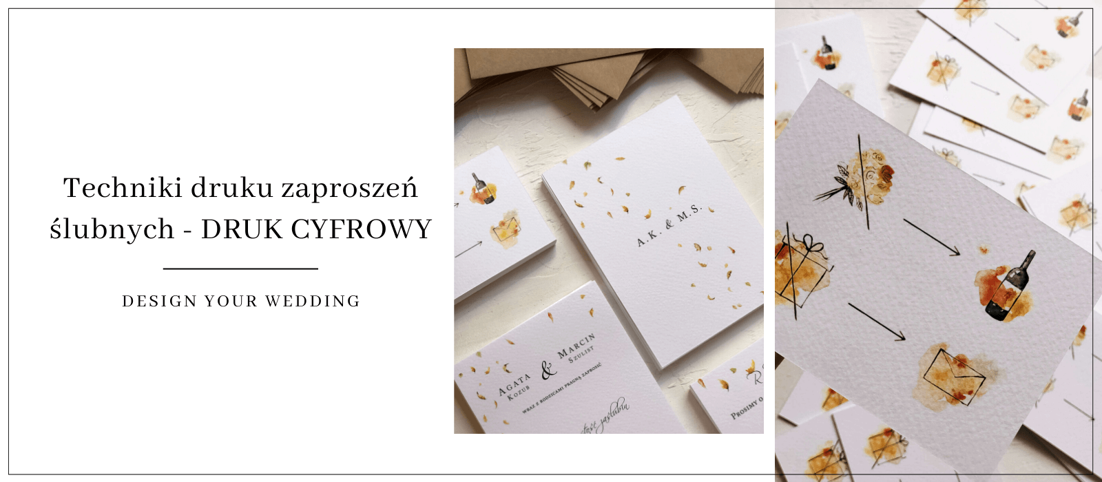 ZAPROSZENIA NA ŚLUB DESIGN YOUR WEDDING