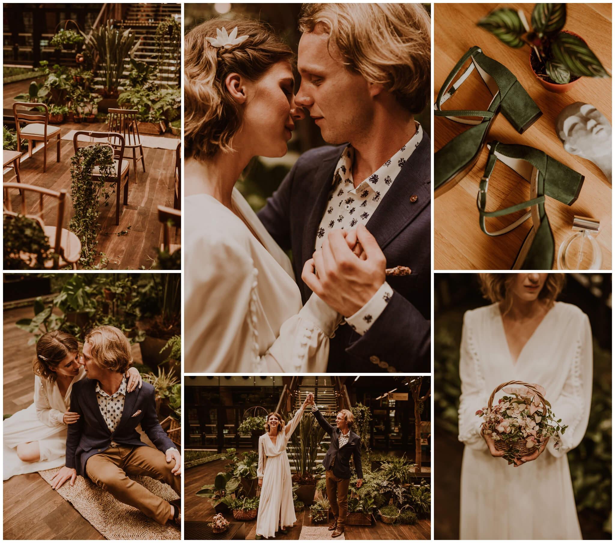 sesja stylizowana crazy plant wedding