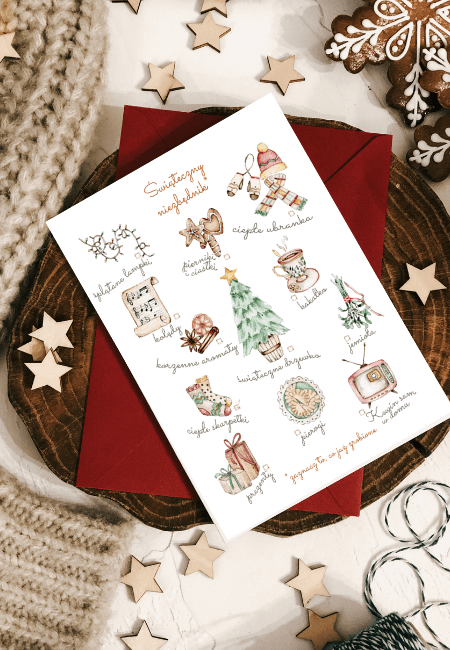 Świąteczny Niezbędnik kartka świąteczna Design Your Wedding