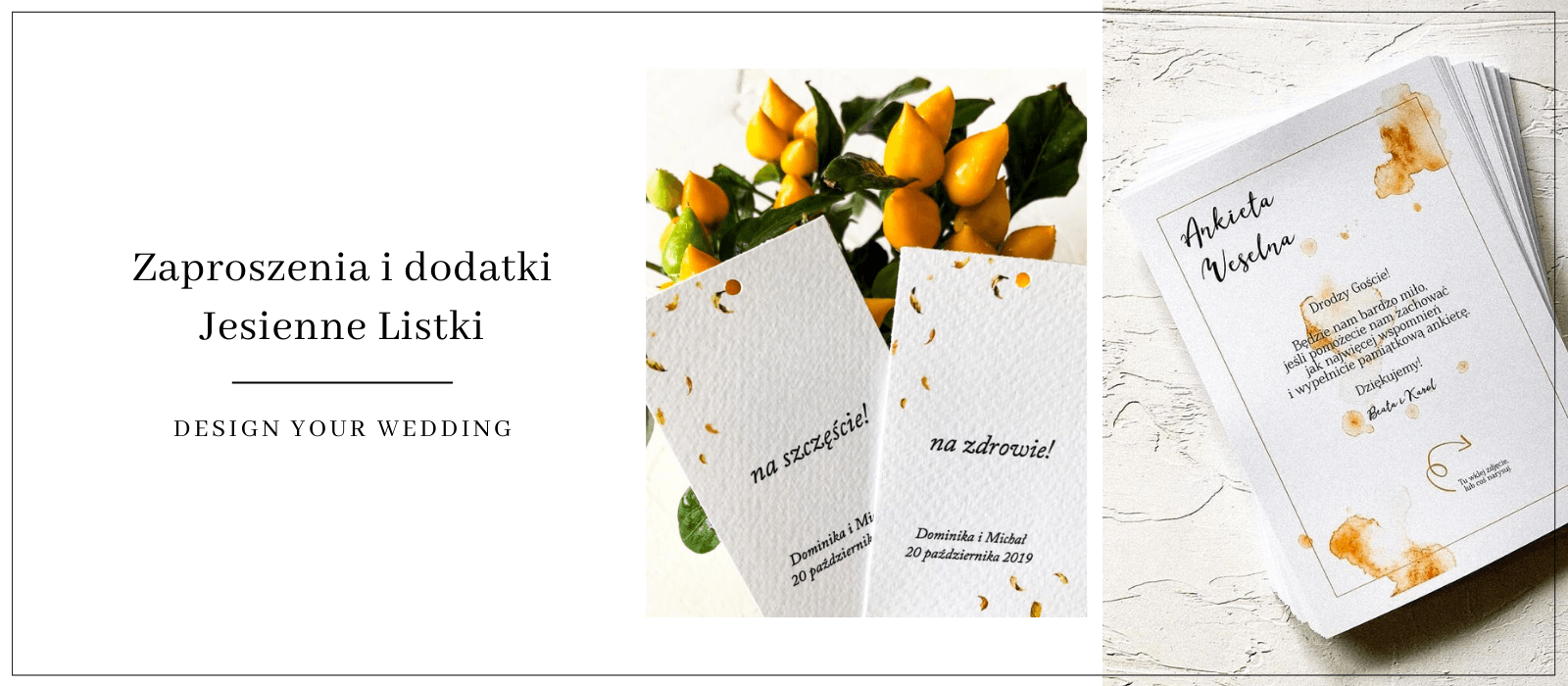 Zaproszenia na ślub jesienią / Design Your Wedding