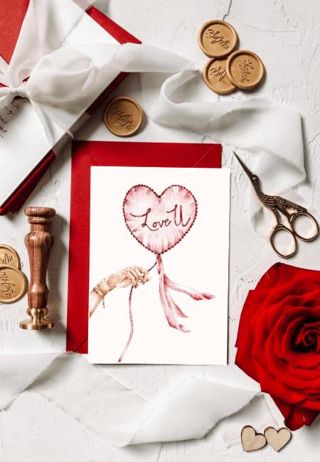 kartka miłosna balon serce LOV u _ Design Your Wedding