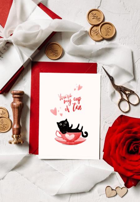 kartka miłosna kot herbaciany _ Design Your Wedding