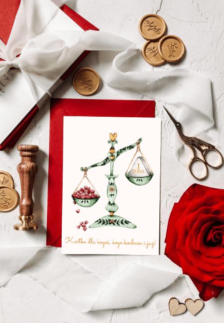 kartka walentynkowa waga kuchenna Design Your Wedding