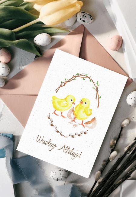 Kartka Wielkanocna Kurczaczki _ Design Your Wedding