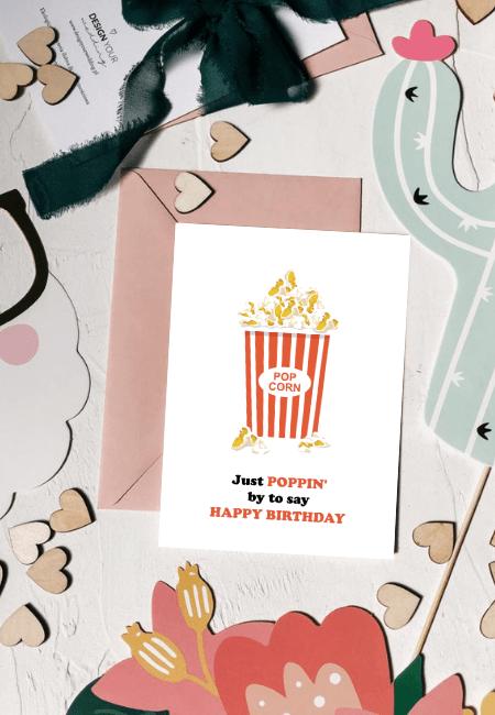 Popcorn kartka urodzinowa Design Your Wedding