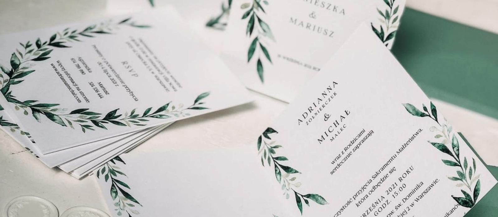 Próbki zaproszeń ślubnych _ Design Your Wedding