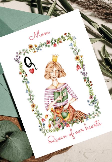 Kartka na Dzień Matki Królowa Design Your Wedding www