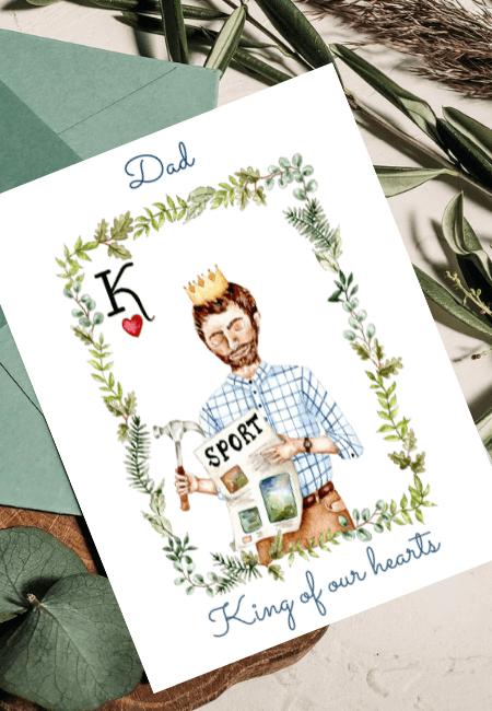Kartka na Dzień Ojca Król Design Your Wedding (1)
