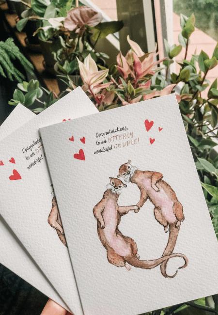 Kartka na ślub wyderki Design Your Wedding