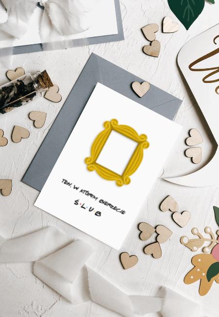 Kartka na ślub przyjaciele Design Your Wedding