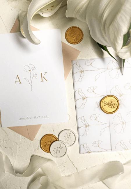 Zaproszenia ślubne Subtelnie Design Your Wedding